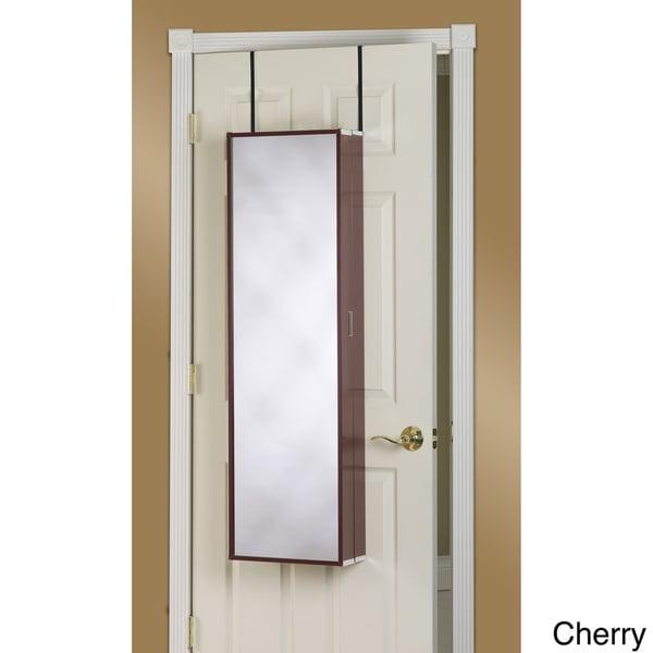 Amazing Back Of The Door Mirror #10: Over-the-Door Mirror Makeup Vanity Armoire