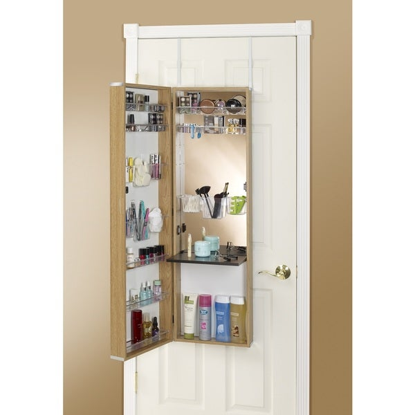 mirrored armoire the doors door over horizonbiodroit makeup com