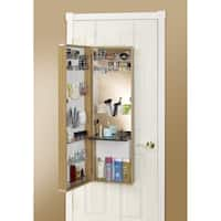 Clay Alder Home Buckman Over-the-Door Mirror Makeup Vanity Armoire