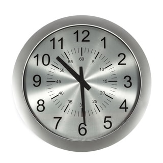 Hans Andersen Home Slim Silvertone Clock