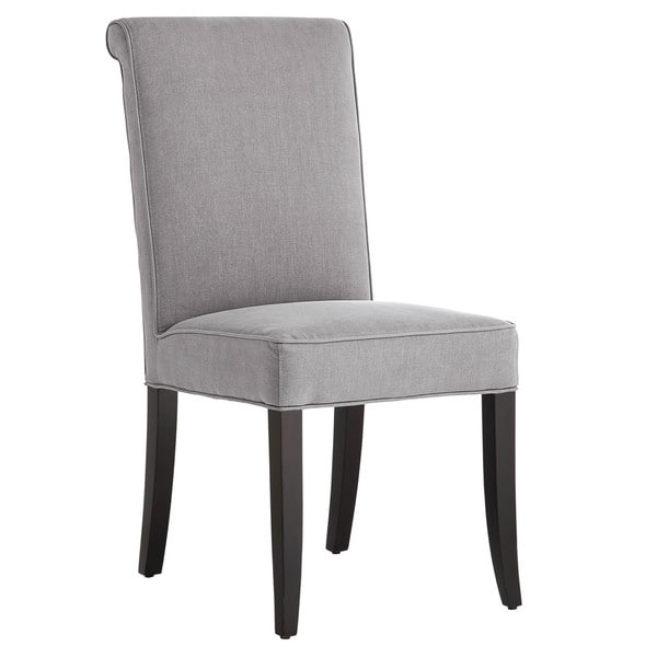 Sunpan 'Club' Baron Grey Linen Dining Chairs with Tufted Back (Set of 2)