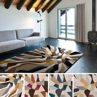 Hand-Tufted Barnes Contemporary Abstract Area Rug - 5' x 8'