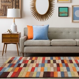 Hand-Tufted Dexter Contemporary Geometric Area Rug-(2' x 3')