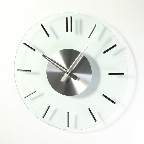 Hans Andersen Home Mid-Century Style Glass Clock