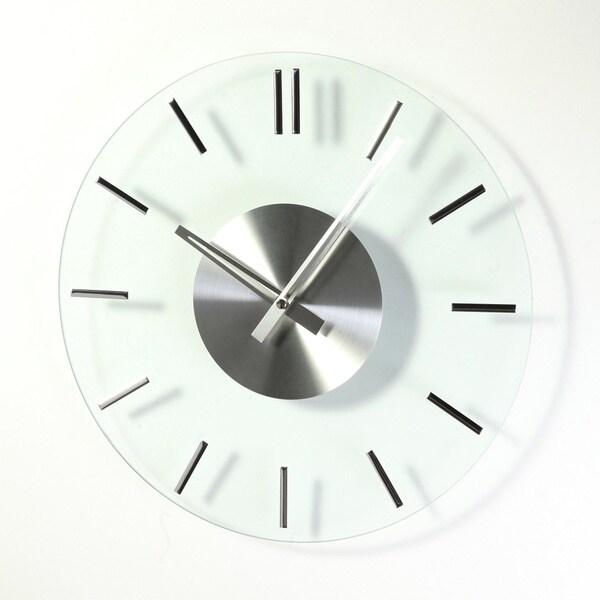 Hans Andersen Home Mid-Century Style Glass Clock