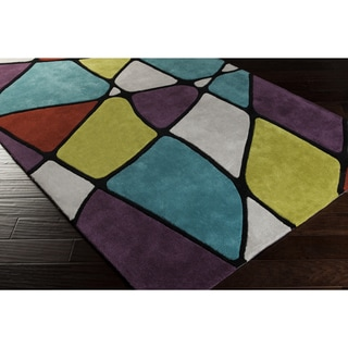 Hand-Tufted Belmont Contemporary Geometric Area Rug-(2' x 3')