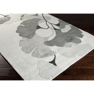 Hand-Tufted Beulah Contemporary Floral Area Rug-(2' x 3')