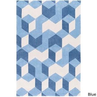 Hand-Tufted Beecher Contemporary Geometric Area Rug-(3'6 x 5'6)