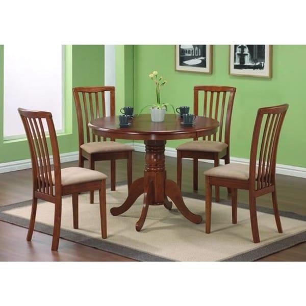 oak round  inch diameter pedestal table: 40 inch round pedestal dining table