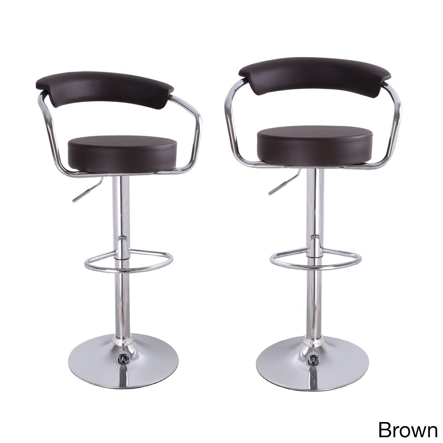 Adeco Modern Adjustable Hydraulic Lift Barstool Chair (Se...