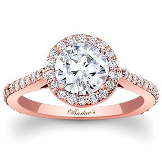 Barkev's Designer 14k Rose Gold 1 3/4ct TDW Diamond Halo Ring (F-G, SI1-SI2)