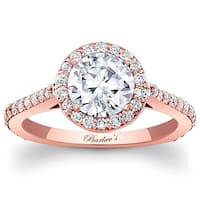 Barkev's Designer 14k Rose Gold 1 3/4ct TDW Diamond Halo Engagement Ring