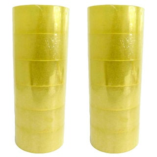 Clear Quality Moving & Storage Packaging Tape 2 mil Thick Box Carton Sealing Tape 2-inch x 110 Yards (12 Rolls)
