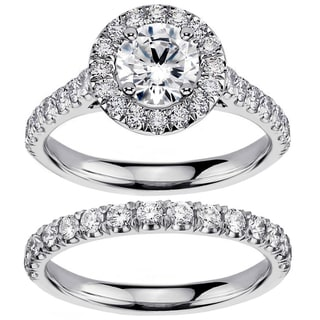 14k/ 18k White Gold 2 3/5ct TDW Diamond Engagement Ring Bridal Set (G-H, SI1-SI2)