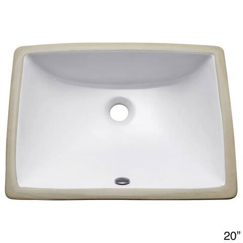 Avanity Rectangular Undermount Vitreous China Sink in White