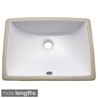 Avanity Rectangular Undermount Vitreous China Sink in White