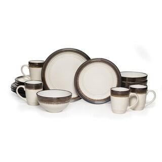 Mikasa Gourmet Basics \u0027Bailey\u0027 16-piece Dinnerware Set  sc 1 st  Overstock & Stoneware Dinnerware For Less | Overstock