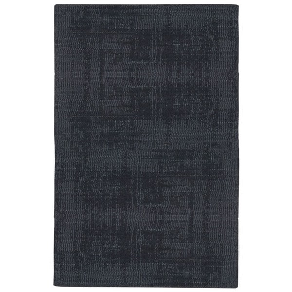 Calvin Klein Nevada Handmade Midnight Blue Area Rug by Nourison - 4' x 6'