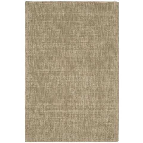 """Calvin Klein Nevada Handmade Grain/Beige Area Rug by Nourison - 5'3"""" x 7'5"""""""