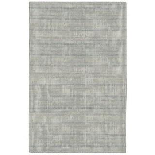 "Calvin Klein Nevada Handmade Grey Area Rug by Nourison - 5'3"" x 7'5"""