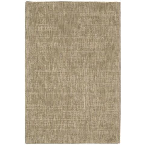 """Calvin Klein Nevada Handmade Grain/Beige Area Rug by Nourison - 7'9"""" x 10'10"""""""