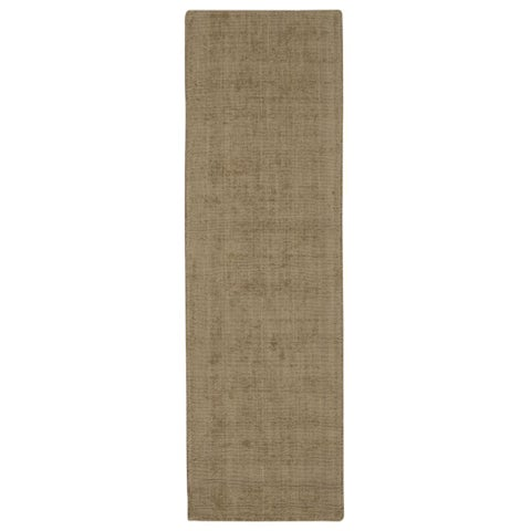 "Calvin Klein Nevada Handmade Grain/Beige Area Rug by Nourison - 2'3"" x 7'6"" Runner"