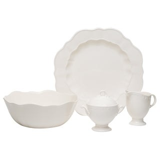 Red Vanilla Country Estate White 5-piece Serving Set