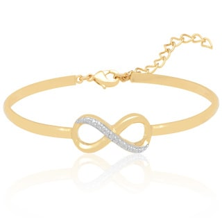 Finesque Diamond Accent Infinity Bracelet