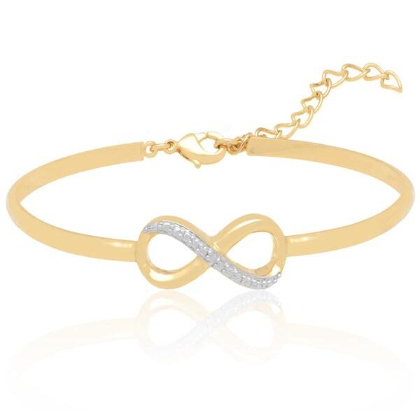 Finesque Diamond Accent Infinity Bracelet