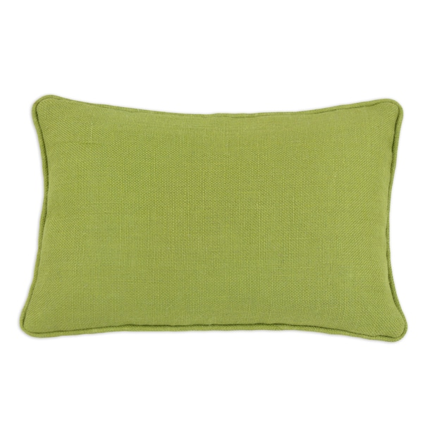Shop Somette Burlap Avocado Corded Decorative Throw Pillow Free Stunning Decorative Cording For Pillows
