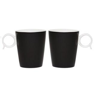 Red Vanilla Freshness Mix & Match 'Bandy' Black 12-ounce Mugs (Set of 2)