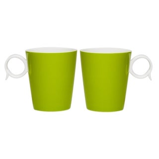 Red Vanilla Freshness Mix & Match 'Bandy' Olive 12-ounce Mugs (Set of 2)