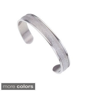 Stainless Steel Textured Cuff Bracelet By Ever One