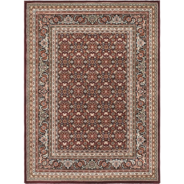 "Medallion Red Area Rug - 5'6"" x 7'6"""