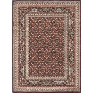 Medallion Red Area Rug (5'6 x 7'6)