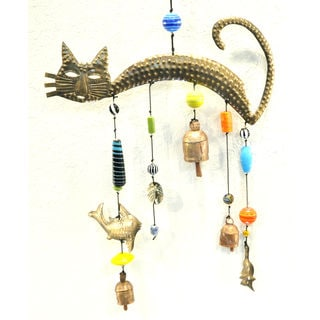 Handmade Kitty Mix Wind Chime (India)
