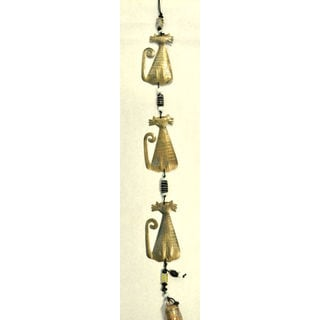 Handmade '3 Crazy Kats' Wind Chime (India)