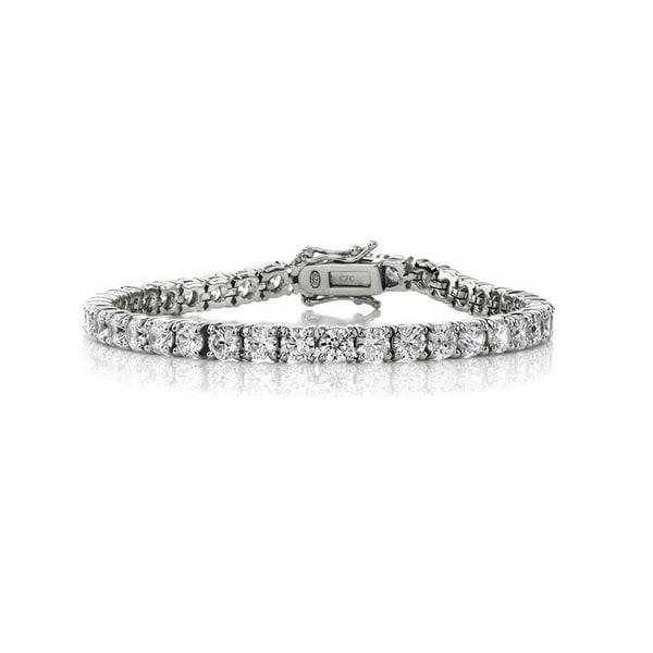 Engagement & Wedding Jewelry & Watches Provided Gold Diamente Tennis Bracelet Bride Bridesmaid Formal Evening