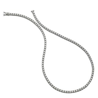 Collette Z Sterling Silver Cubic Zirconia Tennis Necklace