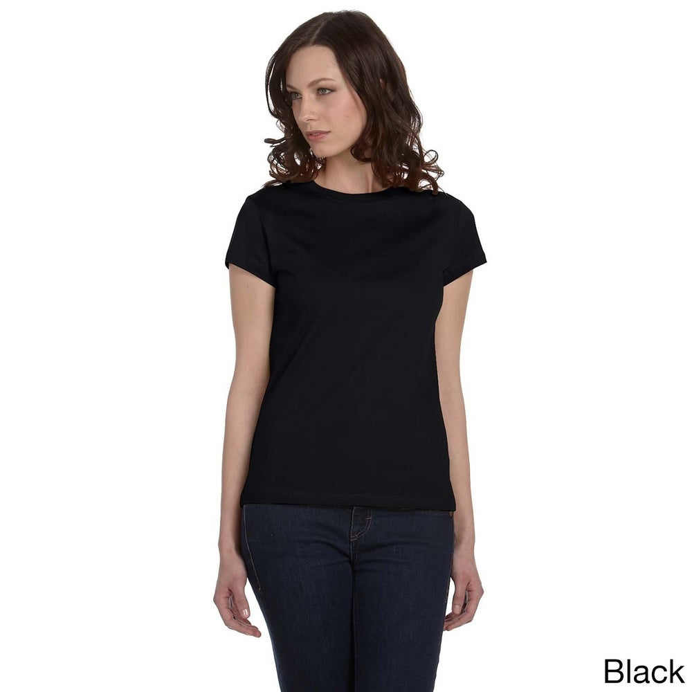 Bella Womens Crew Neck Fitted Jersey T-shirt