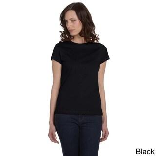 Bella Women's Crew Neck Fitted Jersey T-shirt