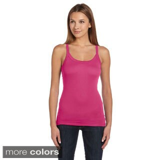 Bella Women's Solid Longer Length Tank Top
