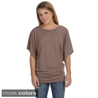 Bella Women's Draped-sleeve Dolman T-shirt