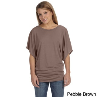 Link to Bella Women's Draped Sleeve Dolman T-shirt Similar Items in Tops