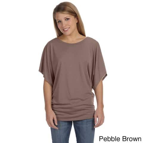 Bella Women's Draped Sleeve Dolman T-shirt