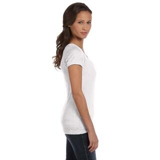 Bella Women's Burnout V-neck T-shirt