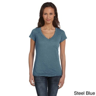 Bella Women's Burnout V-neck T-shirt