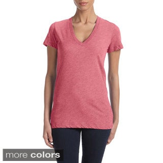 Bella Women's Triblend Deep V-neck T-shirt