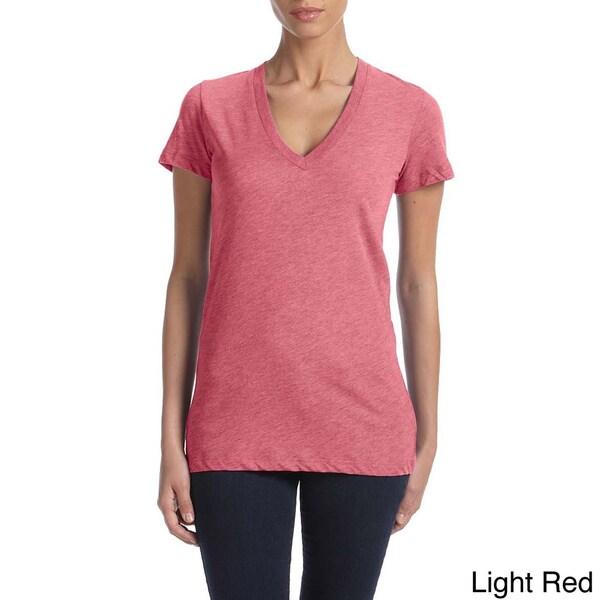 Bella Women's Triblend Deep V-neck T-shirt. Opens flyout.