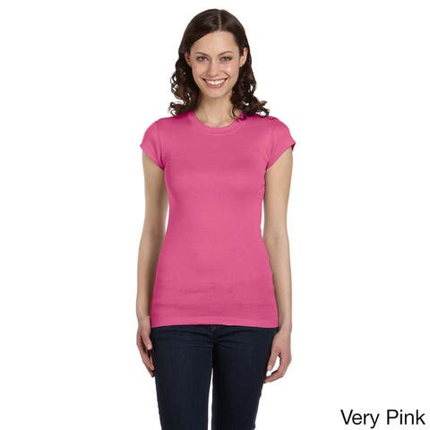 Bella Women's Longer Length Crew Neck T-shirt